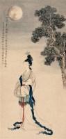许昭 辛未(1931年)作 月中嫦蛾图 轴 设色纸本 - 许昭 - 中国近现代书画 - 2006艺术品拍卖会 -收藏网