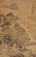 山水 立轴 绢本设色 - 袁江 - 中国古代书画  - 2010秋季艺术品拍卖会 -收藏网