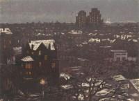 上海雪夜 - 沈柔坚 - 油画 - 2010年秋季拍卖会 -收藏网