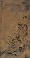黃慎(1687~約1770)仙家送丹圖 -  - 中国书画古代作品专场(清代) - 2008年春季拍卖会 -收藏网