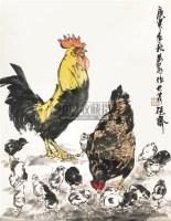 群鸡图 立轴 纸本 - 7693 - 中国书画 - 2010秋季艺术品拍卖会 -收藏网
