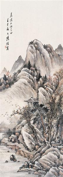 山水 立轴 设色纸本 - 7123 - 名家书画·油画专场 - 2006夏季书画艺术品拍卖会 -收藏网