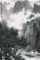 雨后 立轴 设色纸本 - 白雪石 - 中国书画(一) - 2010年秋季艺术品拍卖会 -中国收藏网