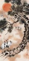 张聿光 益寿延年图 片 设色纸本 - 张聿光 - 中国近现代书画 - 2006艺术品拍卖会 -收藏网
