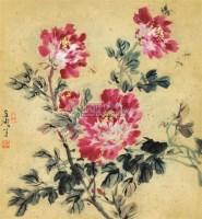 牡丹 镜心 纸本 - 王雪涛 - 中国书画 - 2010年秋季书画专场拍卖会 -收藏网