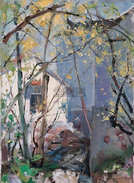 三月阳光 布面  油画 - 132410 - 华人西画 - 2006年度大型经典艺术品拍卖会 -收藏网