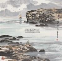 清水江畔 镜心 设色纸本 - 苗重安 - 中国书画 - 2010秋季艺术品拍卖会 -收藏网