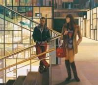 都市系列-萤影 布面油画 - 王一亭 - 中国油画  - 2010年秋季艺术品拍卖会 -收藏网