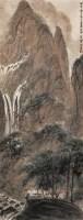 山水人物 设色纸本 立轴 - 傅抱石 - 2011迎春书画大型拍卖会 - 2011迎春书画大型拍卖会 -收藏网