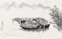 夜泊图 (一件) 立轴 纸本 - 吴冠中 - 字画下午专场  - 2010年秋季大型艺术品拍卖会 -收藏网