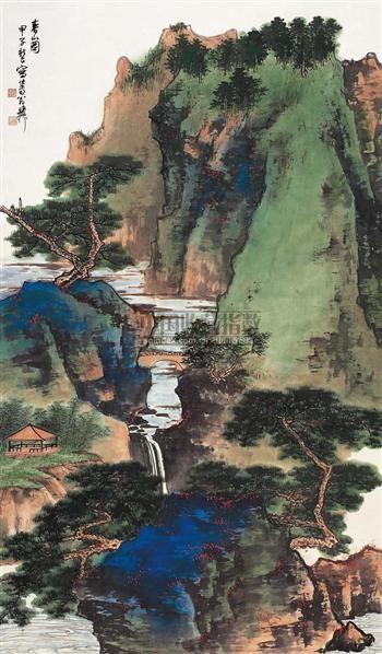 春山图 - 139818 - 西泠印社部分社员作品 - 2006春季大型艺术品拍卖会 -收藏网