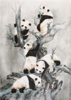 熊猫图 立轴 纸本设色 - 141126 - 中国当代书画 - 2010秋季艺术品拍卖会 -收藏网