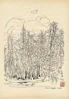 巴黎天空 镜心 水墨纸本 - 吴冠中 - 中国书画 - 2010年秋季拍卖会 -收藏网