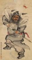 钟馗 立轴 设色纸本 - 吴寿谷 - 中国书画 - 第9期中国艺术品拍卖会 -收藏网