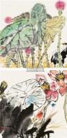荷塘清趣 立轴 设色纸本 -  - 国画 陶瓷 玉器 - 2010秋季艺术品拍卖会 -收藏网