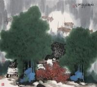 故乡月 镜心 设色纸本 - 杨延文 - 中国书画 - 第54期书画精品拍卖会 -中国收藏网