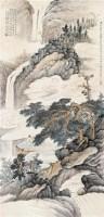 坐看云起 立轴 设色纸本 - 唐云 - 中国书画 - 2010秋季艺术品拍卖会 -中国收藏网