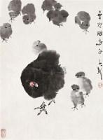 亲情 镜片 设色纸本 - 王子武 - 中国书画 - 2010秋季艺术品拍卖会 -收藏网