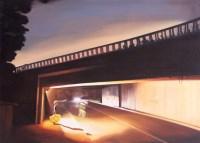 山水 设色纸轴 - 130183 - (西画)当代艺术专题 - 2006年秋季精品拍卖会 -收藏网