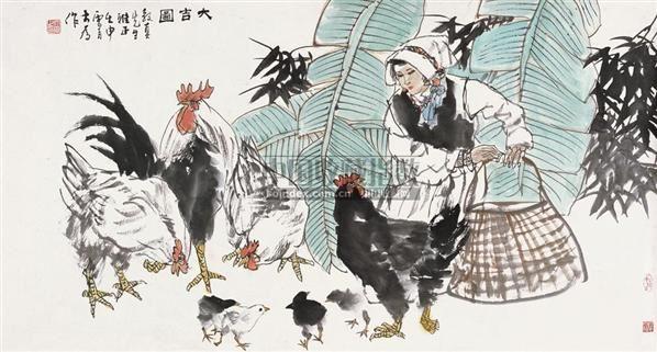 大吉图 镜心 设色纸本 - 114744 - 中国书画 - 2010秋季艺术品拍卖会 -收藏网