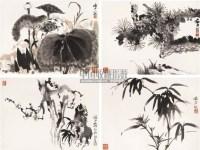 花卉册页 册页 (四开) 设色纸本 - 116006 - 中国书画(一) - 2006春季拍卖会 -收藏网