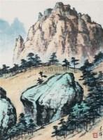 山水 水墨纸本 - 9722 - 中国新兴木刻运动先驱·李桦、古元、沃渣版画作品及收藏专场 - 2010年秋季艺术品拍卖会 -中国收藏网