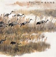 自在水云乡 镜框 设色纸本 - 方济众 - 中国书画 - 2010秋季艺术品拍卖会 -中国收藏网