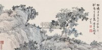 空林秋暮 镜片 设色纸本 - 溥儒 - 中国近现代书画(一) - 2010秋季艺术品拍卖会 -收藏网