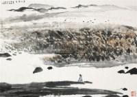 唐人诗意 镜心 设色纸本 - 亚明 - 中国书画(一) - 2010年秋季艺术品拍卖会 -中国收藏网