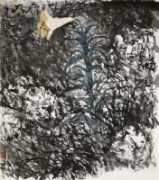 山野之花 镜片 设色纸本 - 119140 - 中国书画(二) - 2010年秋季艺术品拍卖会 -收藏网