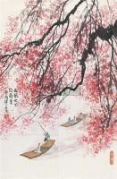 西风吹下红雨来 立轴 设色纸本 - 傅二石 - 中国书画 - 第9期中国艺术品拍卖会 -收藏网