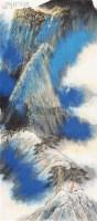 西岳峥嵘 立轴 绢本 - 何海霞 - 中国书画 - 2010年秋季书画专场拍卖会 -收藏网