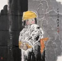 乡村女童 镜心 设色纸本 - 王有政 - 中国书画 - 第54期书画精品拍卖会 -中国收藏网
