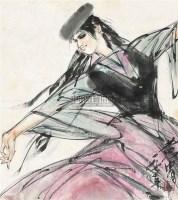 新疆少女 镜心 纸本 - 黄胄 - 中国书画 - 2010年秋季书画专场拍卖会 -收藏网