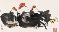 鸡 镜心 设色纸本 - 116015 - 中国书画 - 第9期中国艺术品拍卖会 -收藏网