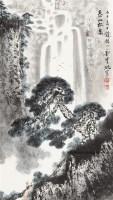 泰山松泉 立轴 纸本设色 - 刘宝纯 - 中国当代书画 - 2010秋季艺术品拍卖会 -收藏网