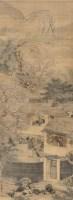山水人物 立轴 绢本设色 - 禹之鼎 - 中国古代书画  - 2010秋季艺术品拍卖会 -收藏网