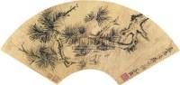 松树 (一件) 扇片 金笺 - 陈道复 - 字画上午专场  - 2010年秋季大型艺术品拍卖会 -收藏网