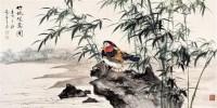 兰竹 设色纸轴 - 李苦禅 - 近现代名家作品(二)专场 - 2005秋季大型艺术品拍卖会 -收藏网