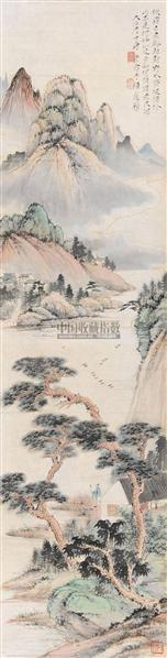 山水人物 镜心 设色纸本 - 117343 - 中国书画夜场 - 2010秋季艺术品拍卖会 -收藏网