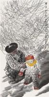 学步 镜片 设色纸本 - 王有政 - 中国书画 - 2010秋季艺术品拍卖会 -收藏网