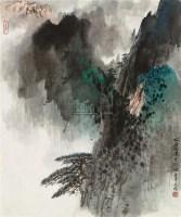 北海雨後 镜心 设色纸本 - 宋文治 - 中国书画三 - 2010秋季艺术品拍卖会 -中国收藏网
