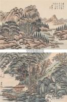 山水 册页 (八开选二) 水墨纸本 - 4779 - 中国书画 - 2006秋季书画艺术品拍卖会 -收藏网