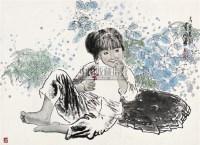 女孩 镜心 设色纸本 - 王有政 - 中国书画 - 2010秋季艺术品拍卖会 -收藏网