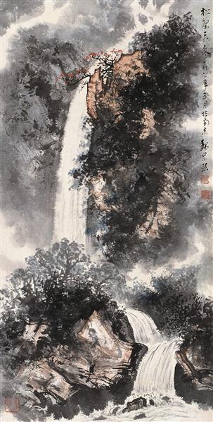 魏紫熙 1981年作 松壑飞泉图 轴 设色纸本 - 20046 - 中国近现代书画 - 2006艺术品拍卖会 -收藏网