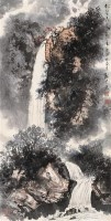 魏紫熙 1981年作 松壑飞泉图 轴 设色纸本 - 魏紫熙 - 中国近现代书画 - 2006艺术品拍卖会 -收藏网
