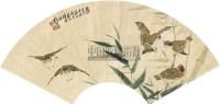 花鸟竹雀 扇面 纸本 - 刘奎龄 - 中国书画 - 2010秋季艺术品拍卖会 -中国收藏网