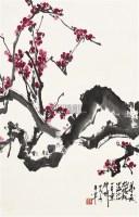红梅图 立轴 设色纸本 - 于希宁 - 中国书画 - 2010秋季艺术品拍卖会 -收藏网
