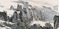 青山飞瀑 镜心 设色纸本 - 114975 - 名家书画·油画专场 - 2006夏季书画艺术品拍卖会 -收藏网