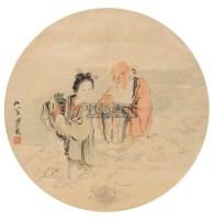献寿图 镜心 设色绢本 - 沙馥 - 中国书画(二) - 2006春季拍卖会 -中国收藏网